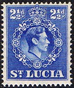 St Lucia 1938 King George VI  SG 132 Fine Mint
