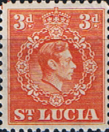 St Lucia 1938 King George VI  SG 133 Fine Mint