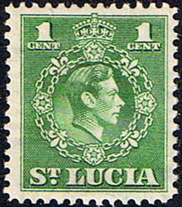 St Lucia 1949 King George VI  SG 146 Fine Mint