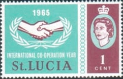 Stamps St Lucia 1965 International Co-operation Year Set Fine Mint