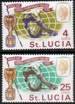 Postage Stamps St Lucia 1966 Football World Cup Set Fine Mint