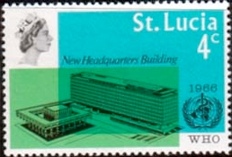 Stamps of St Lucia 1966 World Health Organisation Set Fine
