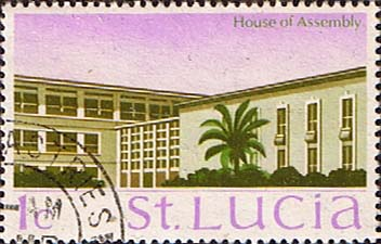 Postage Stamps St Lucia 1970 SG 276 House of Assebley Fine Used SG 276 Scott 261