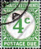Straits Settlements 1924 Postage Due Stamps SG D3 Fine Used