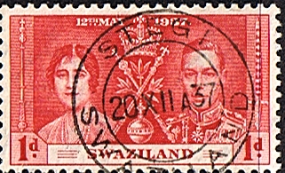 Stamps Swaziland 1937 King George VI Coronation Fine Used