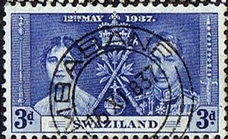 Swaziland 1937 King George VI Coronation Stamps