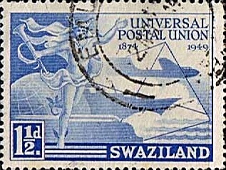 Swaziland Stamps 1949 Universal Postal Union Set Fine Used