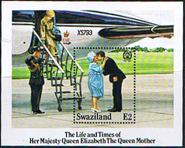 Stamps Stamp Swaziland Queen Mother Life and Times Miniature Sheet Fine Mint  SG 490 Scott  481