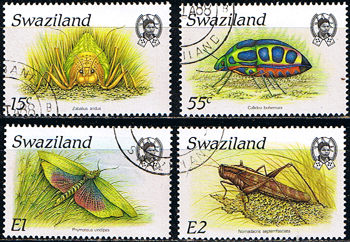Swaziland 1988 Insects Set Fine Used