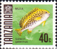 Stamps Tanzania 1967 Fish Fine Mint SG 147 Scott 24