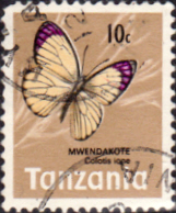 Stamps Tanzania 1973 Butterflies Fine Used SG 159 Scott 36