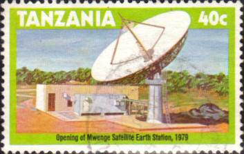 Postage Stamps Tanzania 1979 Mwenge Satellite Earth Station Fine Used SG 275 Scott 132