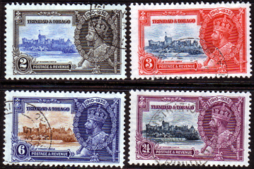 Trinidad and Tobago Stamps 1935 King George V Silver Jubilee Set Fine Used