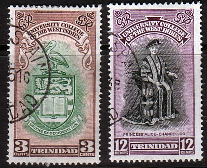 Stamps Stamp Trinidad and Tobago 1951 British West Indies University College Set Fine Used