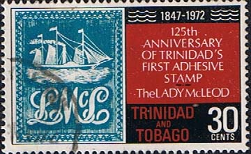 Trinidad and Tobago 1972 First Trinidad Postage Stamp SG 415 Fine Used