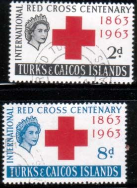 Turks and Caicos 1963 Red Cross Centenary Set Fine Used