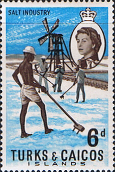 Stamps Turks and Caicos Island 1967 SG 279 Salt Industry Fine Mint Scott 161