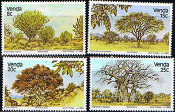 Venda 1982 Indigenous Trees Set Fine Mint