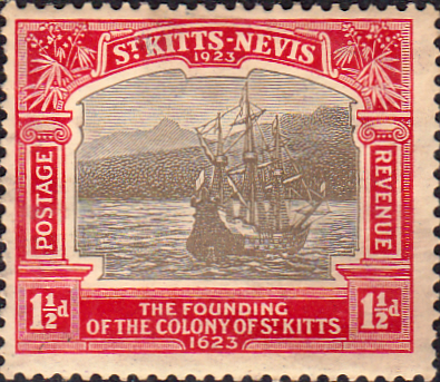 1923 St Kitts - Nevis King George V Tercentenary Commemoration SG 50 Fine Mint