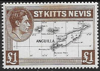 Stamps 1938 St Kitts - Nevis King George VI Fine Used SG 77b Scott 88
