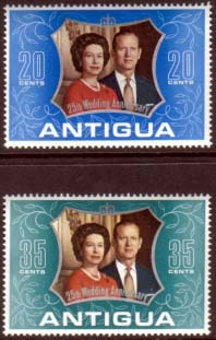 1972 Antigua Royal Silver Wedding Stamps
