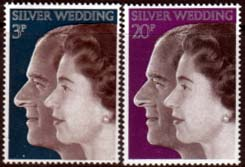 1972 Great Britain Royal Silver Wedding Stamps