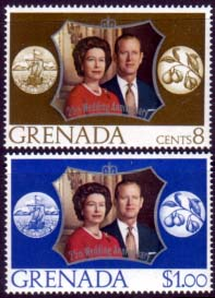 1972 Grenada Royal Silver Wedding Stamps