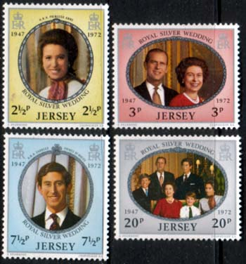 1972 Jersey Royal Silver Wedding Stamps