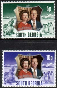 1972 South Georgia Royal Silver Wedding