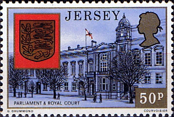 Postage Stamps Stamp Jersey Parish Arms and Views SG 153Parliament Royal Court and Arms Fine Mint