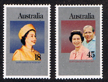 Commonwealth Stamps 1977 Australia Royal Silver Jubilee Set Fine Mint
