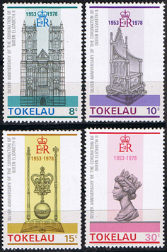 Stamps 1978 Tokelau Coronation 25th Anniversary Set Fine Mint