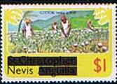 1980 Nevis Picking Cotton SG 47 Fine Mint