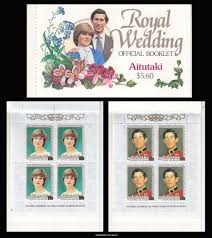Postage Stamps 1981 Aitutaki Charles and Diana Royal Wedding Set Fine Mint