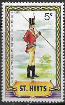 1981 St Kitts Military Uniforms SG 71 Fine Mint