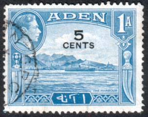 Aden 1951 SG 36 The Harbour Fine Used