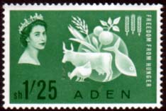 Stamps Aden 1963 Freedom From Hunger Fine Mint