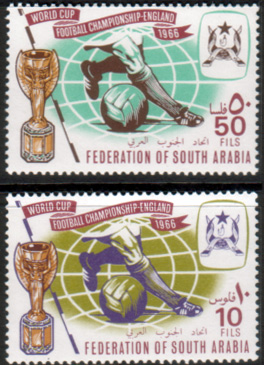 Postage Stamps Aden South Arabia 1966 Football World Cup Set Fine Mint