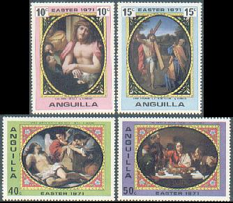 Anguilla 1971 Easter Set Fine Mint