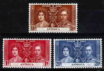 Antigua 1937 King George VI Coronation Stamps