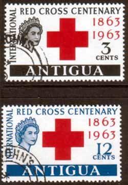 Antigua 1963 Red Cross Centenary Set Fine Used