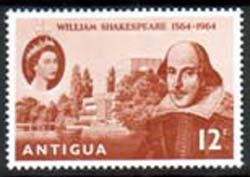 Antigua 1964 William Shakespeare Stamps