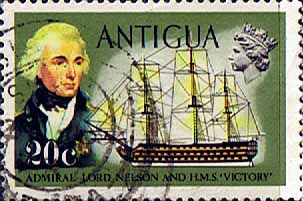 Antigua 1970 Ships and Captains SG 278 Nelson and H.M.S. Victory Fine Used