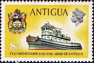Antigua 1970 Ships and Captains SG 285 Pathfinder Tug Fine Mint