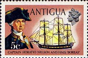 Antigua 1974 Ships and Captains SG 327 Nelson and H.M.S. Boreas Fine Mint