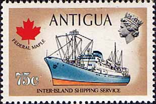 Antigua 1974 Ships and Captains SG 331 Federal Maple Freighter Fine Mint