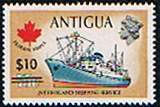 Antigua Stamps 1975 $10 Surcharge