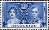 Ascension 1937 George VI Coronation SG 37 Fine Mint