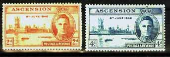 Postage Stamp for Sale Ascension Stamps 1946 King George VI Victory