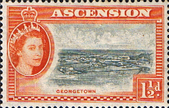 Postage Stamps Ascension 1956 Queen Elizabeth II Georgetown SG 59 Fine Mint Scott 64